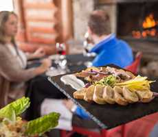 Gourmet menu at the Auberge du Lac Taureau