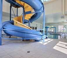 Water slide and spa at Super 8 Lachenaie