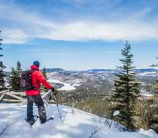 Snowshoeing at Sept-Chutes
