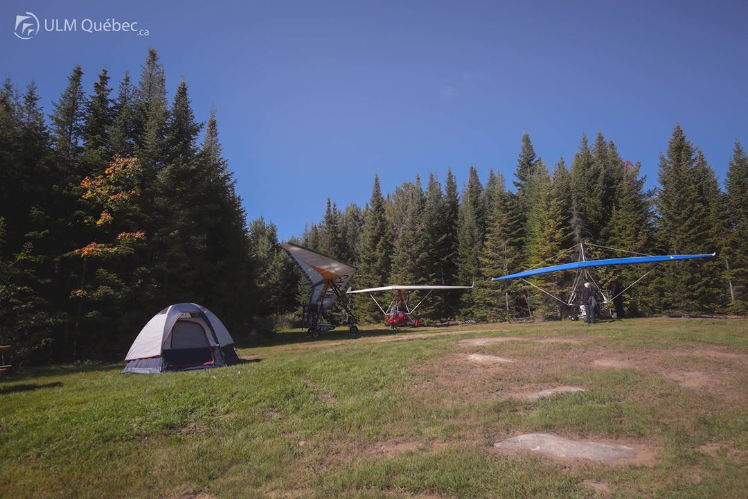Airman's campground open to all at ULM Québec