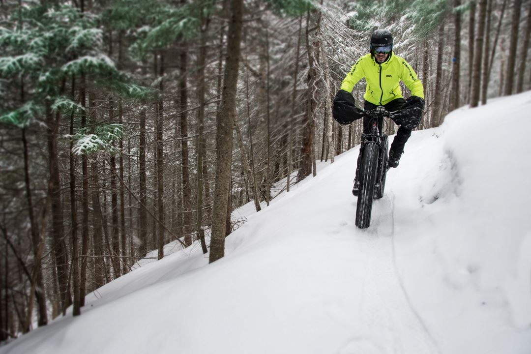 Fat bike at parc Louis-Philippe-De Grandpré